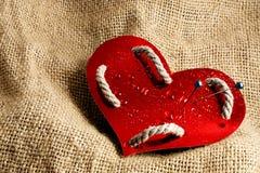 Glossy paper heart. Stock Photo