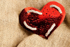 Glossy paper heart. Royalty Free Stock Image
