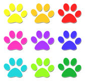 Glossy paw print Stock Photos