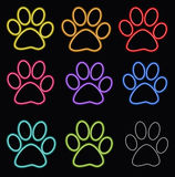 Glossy paw print Royalty Free Stock Photos