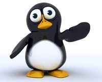 Glossy Penguin Character Stock Photo