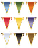 Glossy pennants Royalty Free Stock Photography
