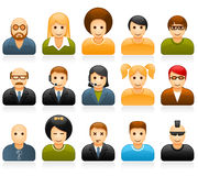 Glossy people avatar icons Stock Photo