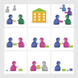 Glossy people icon Stock Images