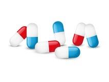 Glossy pills Stock Image