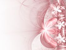 Glossy pink fractal flowers. Digital artwork for creative graphic design Royalty Free Stock Photo