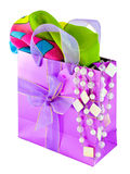 Glossy pink gift bag Royalty Free Stock Photo