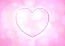 Glossy pink heart Royalty Free Stock Photos