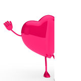 Glossy pink heart wave Stock Image