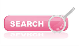 Glossy pink search banner Royalty Free Stock Image