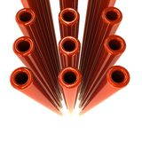 Glossy pipes Stock Photography