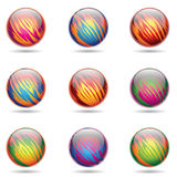 Glossy Planet like Spheres. Vector illustration of colorful, Glossy Planet like Spheres Stock Photography