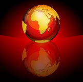Glossy planet sphere Stock Photos