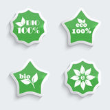 Glossy plastic buttons with environmental icons. Royalty Free Stock Photo