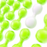 Glossy plastic shapes as abstract copyspace background Stock Photo