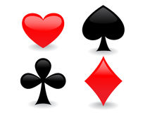 Glossy playing card icons Stock Photo
