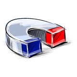 Glossy polished magnet sketch vector illustration Stock Image
