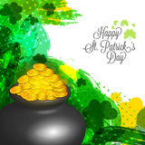 Glossy pot for St. Patrick's Day celebration. Stock Photography