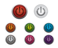 Glossy Power Button Royalty Free Stock Images