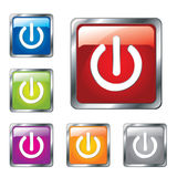 Glossy power buttons vector illustration