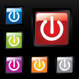 Glossy power buttons Royalty Free Stock Photography