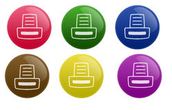 Glossy Printer Button Stock Photography