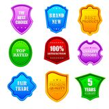 Glossy Promotional Label Stock Images