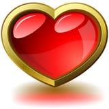 Glossy purple heart Royalty Free Stock Image