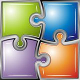 Glossy  puzzle background Royalty Free Stock Images