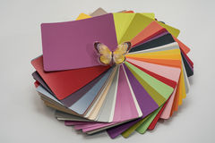 Glossy PVC plastic cards stock images