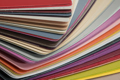 Glossy PVC plastic cards royalty free stock images