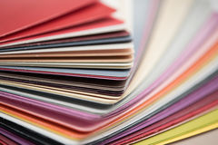 Glossy PVC plastic cards stock image