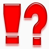Glossy question and exclamation symbol Royalty Free Stock Images