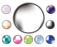 Glossy radial buttons Royalty Free Stock Photography