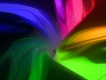 Glossy rainbow abstraction. Bright 3d plastic abstract backdrop of all spectrum colors royalty free illustration