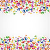 Glossy rainbow flower boll background. There is a abstract background vector illustration