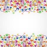 Glossy rainbow flower boll background Stock Photography