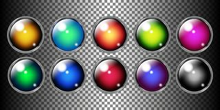 Vector glossy web buttons set stock illustration