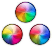 Glossy rainbow web button. The illustration of glossy rainbow web button vector illustration