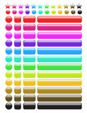 Glossy rainbow web buttons Stock Photos