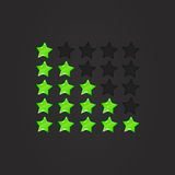 Glossy Rating Stars green. Rating stars for web. vector illustration, eps10 Royalty Free Stock Photos