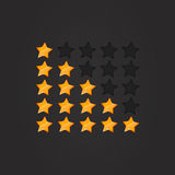 Glossy Rating Stars orange Royalty Free Stock Photo