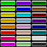 Glossy Rectangular Varicolored Buttons Royalty Free Stock Photo