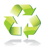 Glossy recycle symbol Royalty Free Stock Photo