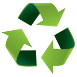 Glossy recycle symbol Royalty Free Stock Images