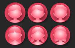 Glossy red avatar Royalty Free Stock Image