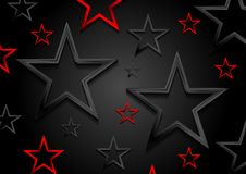 Glossy red and black shiny stars background Royalty Free Stock Images