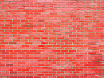 Glossy Red Brick Wall Stock Photo