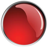 Glossy red button balls. Royalty Free Stock Image