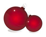 Glossy red christmas ball Stock Image